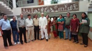 Meeting members of the local NGOs. (Photo credit: Arun Chaube, India@75)