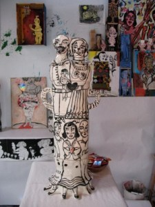 The sculpture All Is Love in her studio.
