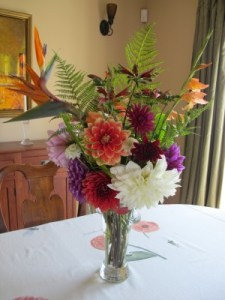 My weekly bouquet for our Portola Middle School auction winner.