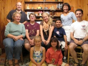 The Enrado-Rossi clan descend upon the Beaudoin clan at their home in Bowdoinham, Maine, August 2010.