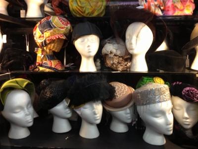 Vintage hats galore.