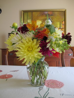 A summer birthday bouquet for my old college roommate Susan.