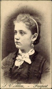 A young Jane Addams in 1878 (from www.swarthmore.edu).