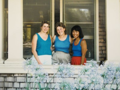 July 1986: A 100-plus day in Davis on campus, saying goodbye as we clean out the apartment and move on to the next phase of our lives. Timeless tanks and shorts. Blue is one of our favorite colors.