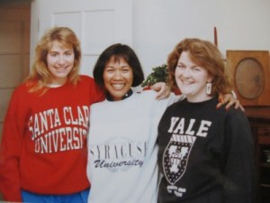 "1992: Graduate school sweatshirts. My weekend uni in XL. Whitney Houston's ""I Will Always Love You"" was tops."
