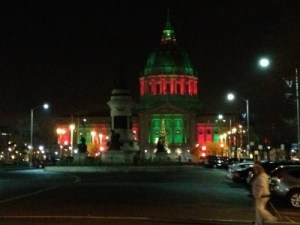San Francisco's City Hall on the brink of New Year's Eve.