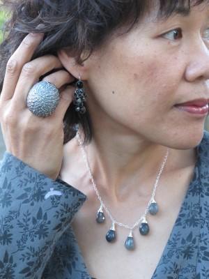 A neck adornment alternative: Carmela Rose labradorite necklace (Jenny K, El Cerrito, CA).