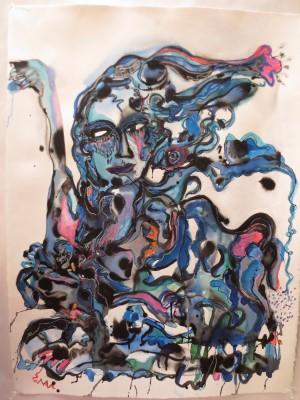 Blue woman.