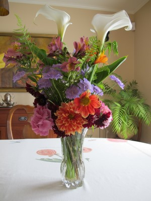 A late May bouquet, the back side.