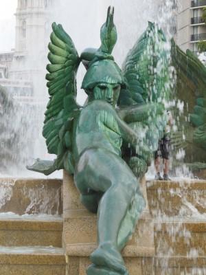 Statue detail from Swann Memorial Fountain in Logan Circle.