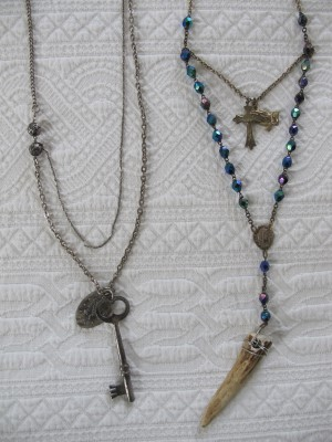 More Michael Hickey reclaimed-vintage necklaces.