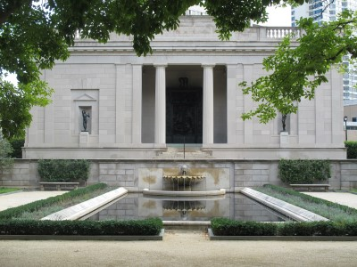 The entrance to the Rodin Museum.