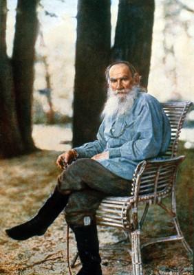 Leo Tolstoy, photograph by Sergey Prokudin-Gorsky, 1908.