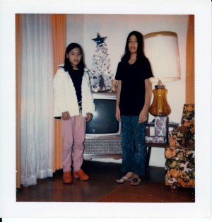 Joyce and me in our Auntie Leonora's house, our old house, 1972.