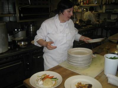 At work at BayWolf Restaurant in 2010.