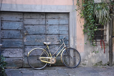 Bicycles are all over Lucca.