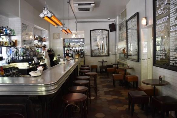 The bar at La Zanzara when you first walk in.