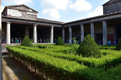 A typical house with courtyard in Pompeii.