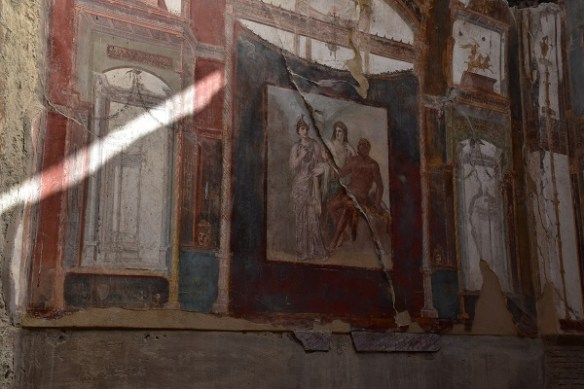 Fresco in the house belonging to freed slaves.