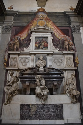 Michelangelo's tomb. He lived to be 89 years old at a time when the average age of man was around 40 years old.