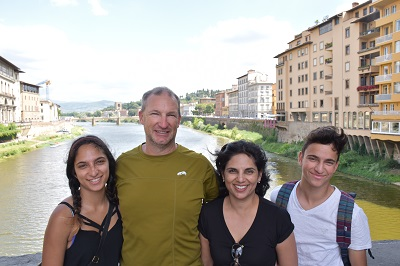 The DeMay family on the Ponte Vecchio.
