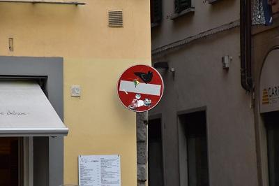 A Clet sign.