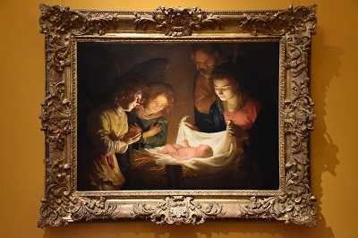 Gerardo Delle Notti's Adoration of the Child, circa 1619-1620.