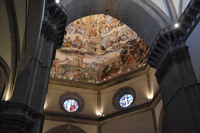 The dome of the Duomo from the inside.