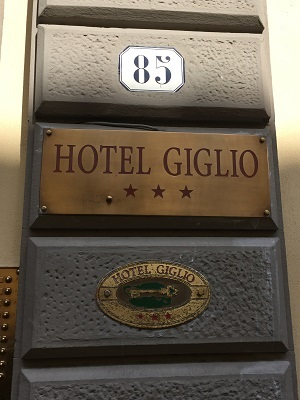 Our hotel in Firenze.