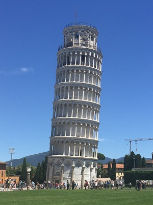 The Leaning Tower of Pisa, the only thing in town worth seeing.