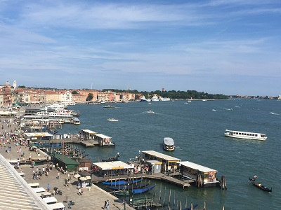 View of the San Marco Basin from atop the Palazzo Ducale.