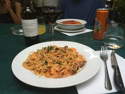 Spaghetti seafood.
