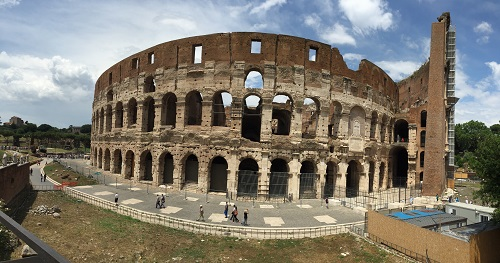 In all its glory, the Coliseum.