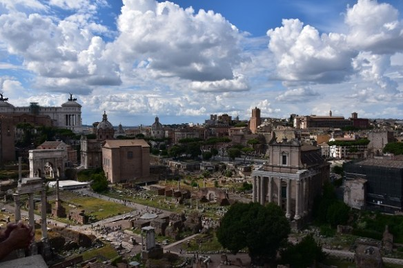 Amazing clouds over a glorious sweep of the Forum.
