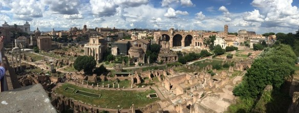 A panoramic view of the Forum.