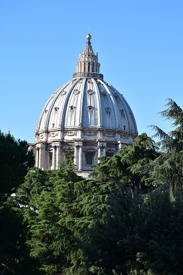 The dome of Saint Peter's Basilica rises before us.