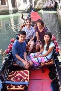 Family portrait on our gondola.