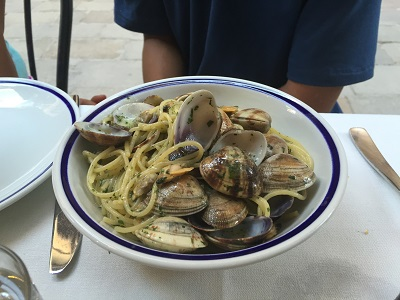 Jacob's spaghetti with clams.