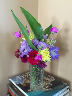 The last gasp from the garden. Is this truly the last bouquet of August, of summer?
