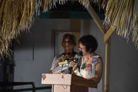 My first public reading from A Village in the Fields, Delano, Calif.