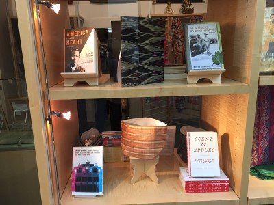 In honor of Filipino American History Month, the Asian Art Museum had a display of books. I was delighted to find that my novel was with the classics by Carlos Bulosan and Bienvenidos Santos in the museum shop's storefront window by the entrance.