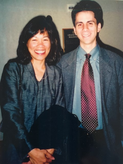 David and me at the 2004 fundraiser. Wow, we sure looked young back then!