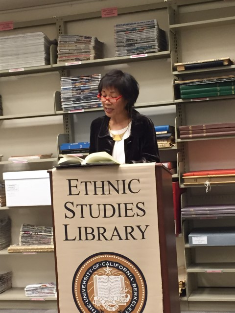 Impassioned reading of an excerpt of my novel at the October 22nd book reading at the Ethnic Studies Library at UC Berkeley.