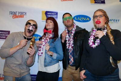 LUNAFEST filmmakers hamming it up at the photo booth.