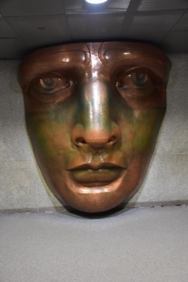 Life-size model of the statue's face (photo by David).