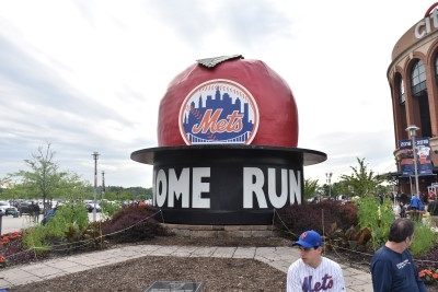 The Big Apple outside the stadium (photo by David).