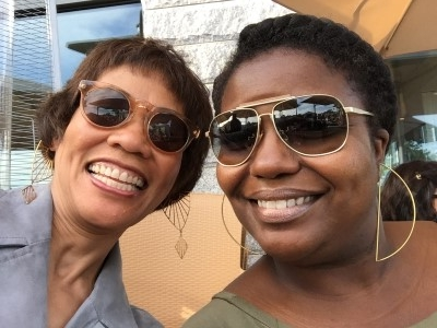 Looks like I found someone at HIMSS Media, my coworker Claretha, who also loves statement earrings, at Tica's on Commercial Street.