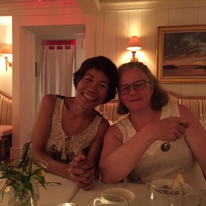 Fay and me after dinner - happy and sated.