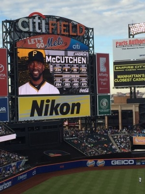 The most famous Pittsburgh Pirate - Andrew McCutchen (photo by me).