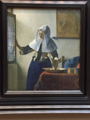 Young Woman with a Water Pitcher (oil on canvas), ca. 1662, by Johannes Vermeer (photo by me).